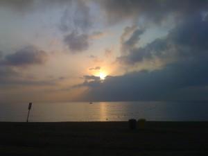 Sunrise over a Barcelona Beach